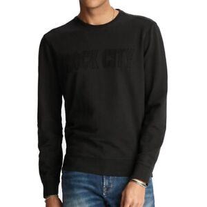 John-Varvatos-Star-USA-Men-039-s-Long-Sleeve-Rock-City-Applique-Sweatshirt-Black