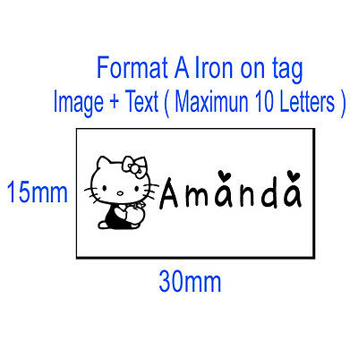 50x Custom clothes logo name label iron on tag fabric garment Personalized Tapes