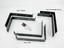 miniature 3 - Scaffold Board Shelf Brackets Rustic Wall Industrial Heavy Duty Metal Steel