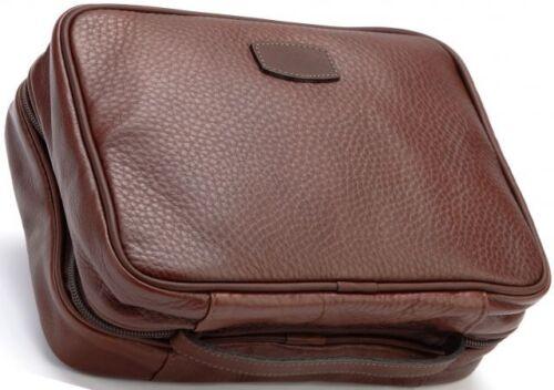 New KORCHMAR R1208 Quinton Leather Hanging Dopp Toilet Kit $170