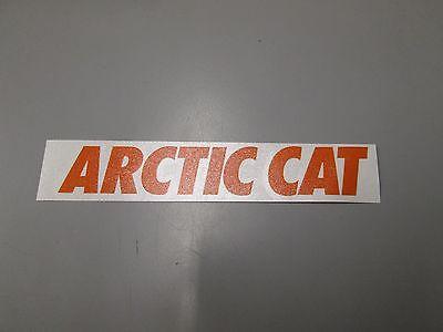 OEM Orange Arctic Cat Decal Sticker 6 x 1 4299-742