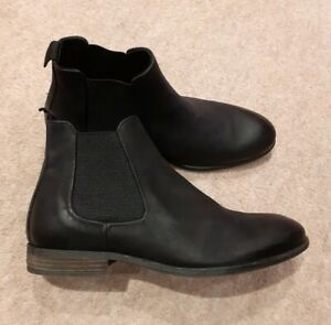 Missus Black Leather Ankle Boots Size