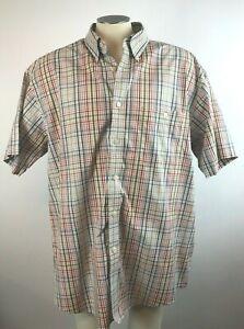 Orvis-Men-039-s-2XL-Plaid-Multi-Color-Plaid-Collared-Short-Sleeve-Button-Down