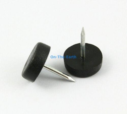 14mm BLACK 32 Nylon Chair Feet Nail Glide Nail Furniture Feet Bottom Protect