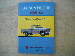 Details about Datsun 1962-1965 Model 320 Pick-Up Truck Owners Manual   Reprint
