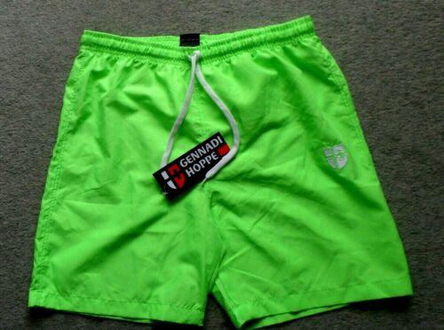 Guennadi Hoppe Messieurs Short badeshort Maillot Décontracté Neon-Vert taille XL neuf