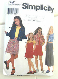 Oop-Simplicity-9491-Girls-dress-jumper-jacket-knit-top-sizes-7-16-NEW