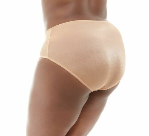 Goddess Yvette Brief Panty GD 6755 Sand with Lace Sizes L thru 4XL New w// tags