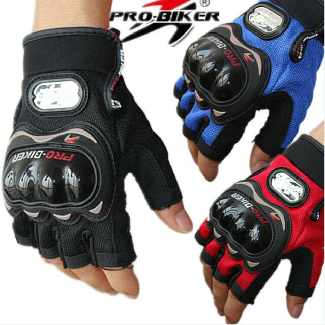 Motorcycle Motocross Sports Riding Racing Cycling Bike Half Finger Gloves M/L/XL