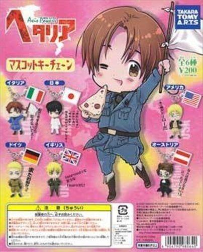 Takara Tomy Hetalia Axis Powers APH Key Chain Part 1 Mascot Swing Figure