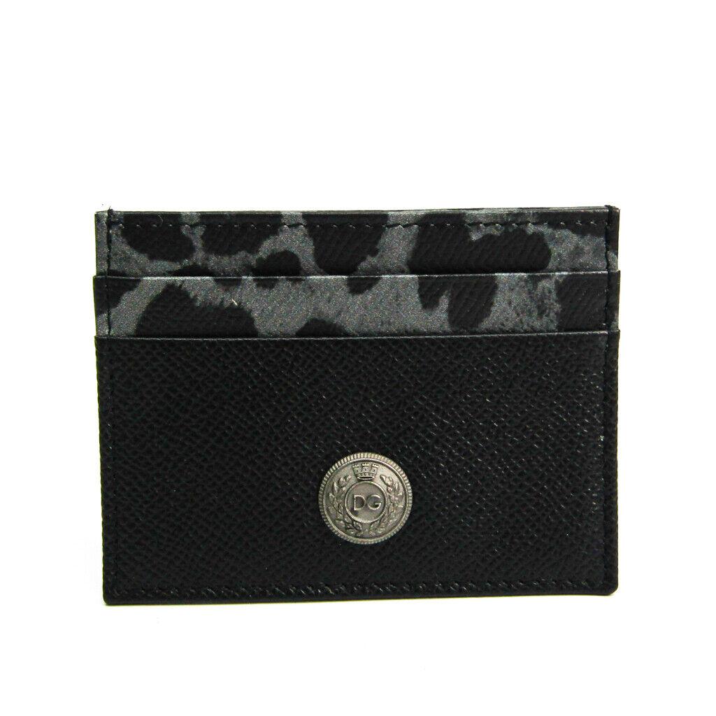 Dolce & Gabbana BP0330 Leather Card Case Black,Gray BF517351