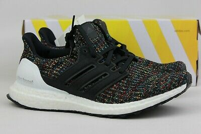 c5bc43f2879 ADIDAS ORIGINALS ULTRABOOST 4.0 BLACK MULTI-COLOR WHITE HEEL CAGE F35232  NEW MEN