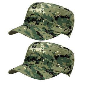 28029ee1a9b 2X Classic Army Hat Cadet COMBAT FIELD MILITARY Police CAP STYLE ...