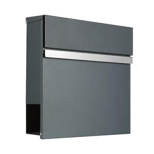 briefkasten anthrazit ral7016 edelstahl 310a. Black Bedroom Furniture Sets. Home Design Ideas