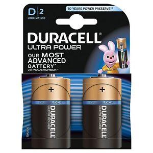2-X-Duracell-puissance-ULTRA-TYPE-D-piles-alcalines-Duralock-1-5V-LR20-MX1300
