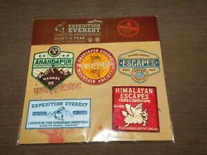 VINTAGE-2006-DISNEY-ROLLER-COASTER-EXPEDITION-EVEREST-IRON-ON-PATCHES-5-NEW