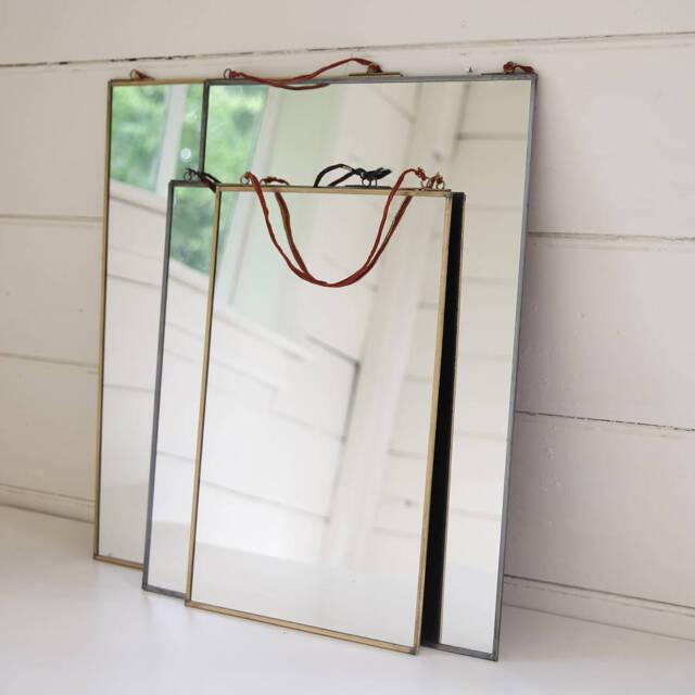 Kiko Brass Mirror by Nkuku 30 x 30cm Hanging Wall Mounted Mirror Fair Trade