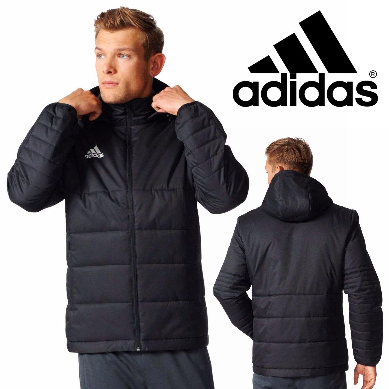 Adidas Performance Herren Tiro 17 Winterjacke Schwarz Gesteppt Sport Fußball Mantel | eBay