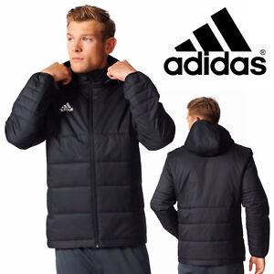 4e25120e3c87 adidas Tiro 17 Winter Jacket Black Sports Hooded Bomber Full Zip ...