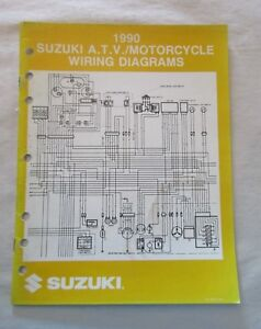 1990 SUZUKI ATV / MOTORCYCLE WIRING DIAGRAMS MANUAL 99923-13901 | eBayeBay
