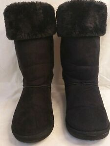 FAUX-FUR-amp-SUEDE-EFFECT-BOOTS-BY-CHIX-SIZE-6-WINTER-COMFY