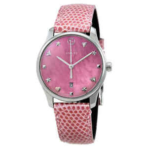 6b59632a3f9 Gucci G-Timeless Pink Mother of Pearl Dial Ladies Watch YA126586 ...