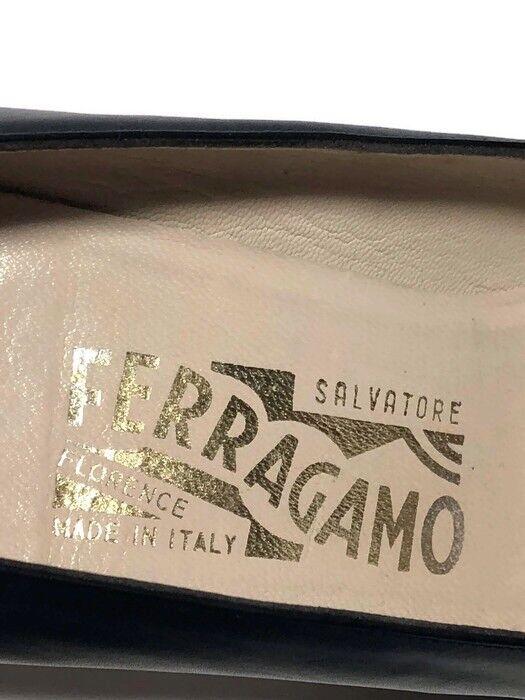 Salvatore Ferragamo Women's VTG VTG VTG bluee Leather Kitten Heel Pumps - Size 7.5 AA eb00ee