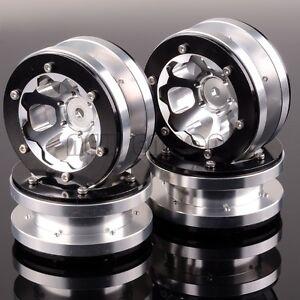 "4PCS Aluminum 1.9"" Beadlock 6 Spoke Wheel Rim 1061 For RC 1:10 Rock Crawler"