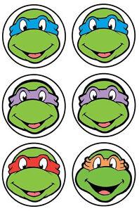 2 Quot 3 5 Quot Tmnt Ninja Turtles Faces Wall Safe Sticker Border