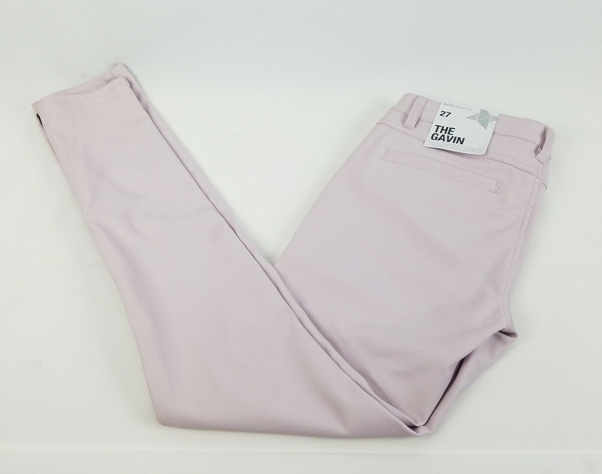 118 BCBG Women's Faux Leather  THE GAVIN  Light Pink Pants NWT  Size 27