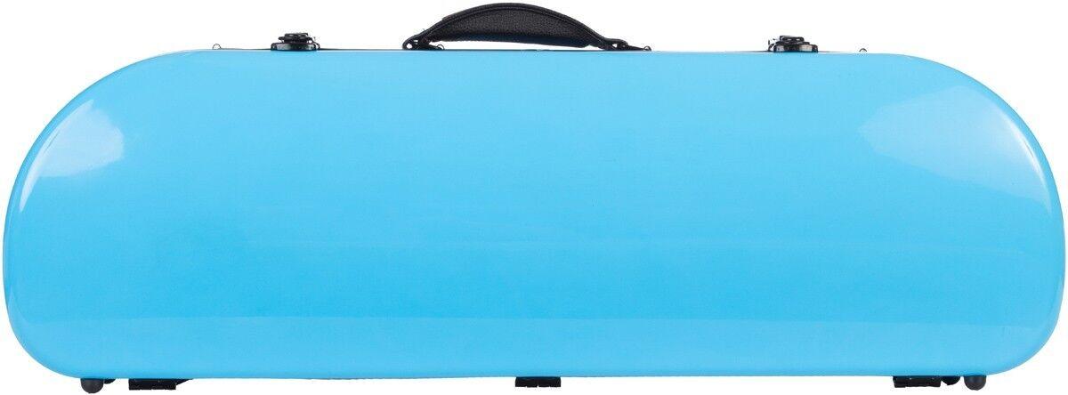 USA Half moon violin case Fiberglass Street 4 4 M-case Blau Sky