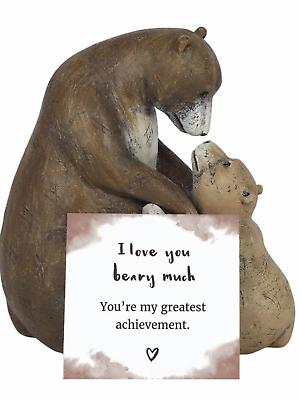 Penguin maman avec bébé ornement décoratif figurine Cadeau