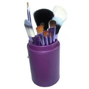 12 Pcs Makeup Brush Cosmetic Brushes Tool Set Kit With Cup Holder