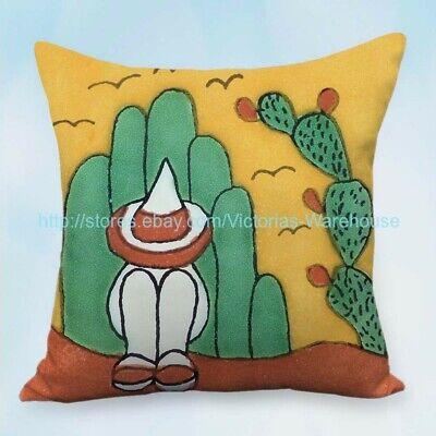 Set of 2 Mexican Cardon Cactus Desert cushion cover pillow living room