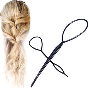 Accessori-capelli-Topsy-Tail-strumento-acconciatura-coda-cavallo-intreccio-donna