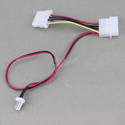 5x Computer Molex 4Pin Female//Male Connector Transform to Male 3-Pin Power Cable