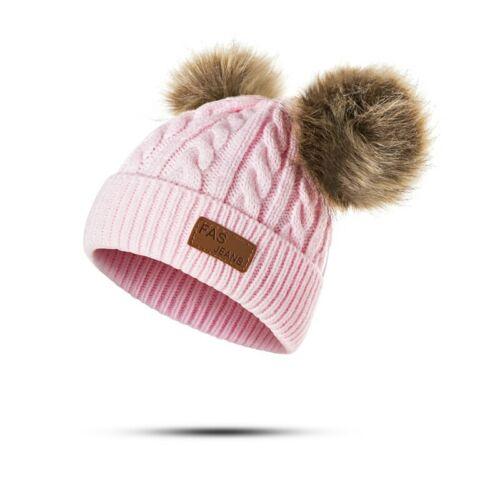 Winter Hat For Girls Baby Boys Pom Poms Hat Children Knitted Beanies Thick