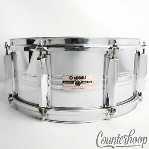Yamaha-SD-565MA-14x6-5-034-Snare-Drum-Steel-8-Lug-Chrome-Vintage-80s-Made-In-Japan