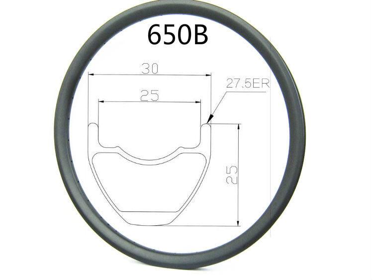 Hookless 27.5 er am Cochebono Mtb Bike Rim,30 mm de ancho,25 mm de profundidad sin cámara compatible