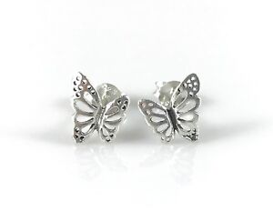 c7fb69125 Image is loading 925-Sterling-Silver-Butterfly-Earrings-Small-Cute-Stud-