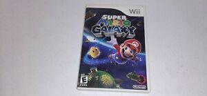 Super Mario Galaxy (Nintendo Wii, 2007) White Label Video Game Complete CIB