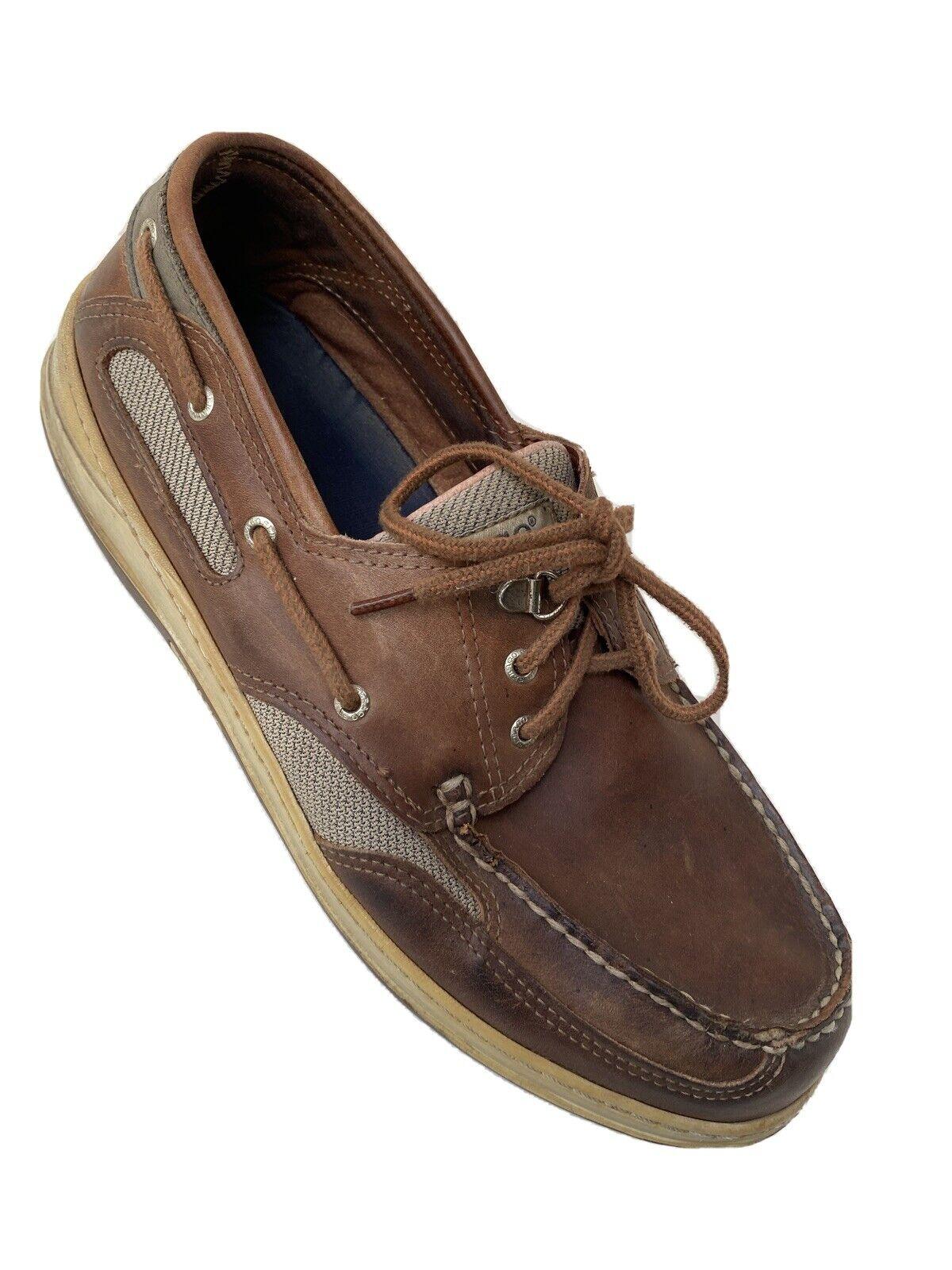Sebago Mens Docksides Elk Brown Leather