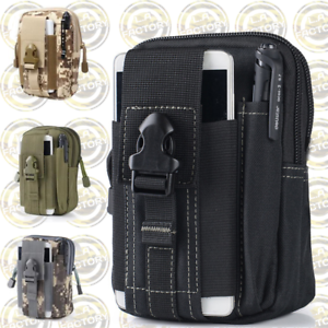 Tactical-MOLLE-Pouch-Water-Resistant-Waist-Bag-EDC-Belt-Pouch-w-Phone-Holster