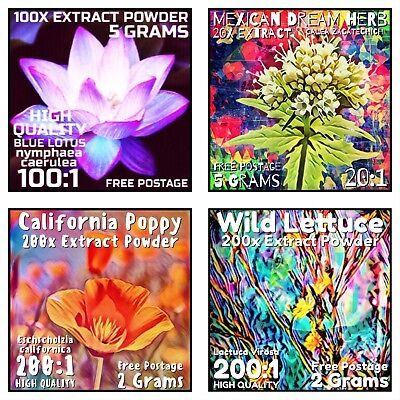 Extract Value Pack Blue Lotus Dream Herb California Poppy Wild