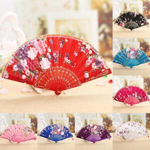 Folding-Fan-Chinese-Flower-Lace-Silk-Hand-Held-Fan-Wedding-Dancing-Party-Gift-dr