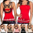 NEW SEXY LADIES EUROPEAN FASHION TOP lacy blouse sz XS S M L WOMEN'S CASUAL WEAR