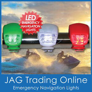 LED MINI EMERGENCY NAVIGATION LIGHTS PORT/STARBOARD/STERN SET-Kayak/Boat/Jet Ski