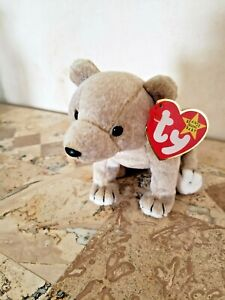 """TY Beanie Baby  """"Almond""""  the Bear with tag protector - NEW - FREE SHIPPING!"""