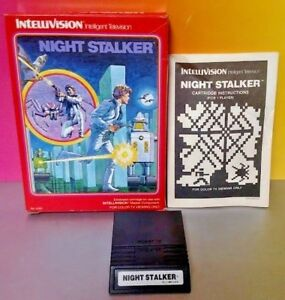 Night-Stalker-Intellivision-Cartridge-Box-Manual-Tested-Complete-Rare