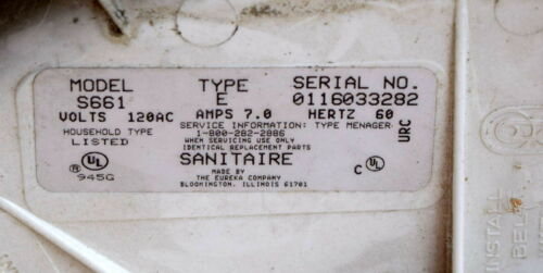 Sanitaire S661 Heavy Duty Upright Vacuum Cleaner Replacement Parts Eureka